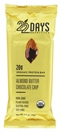 22 Days Nutrition - Organic Protein Bar Almond Butter Chocolate Chip - 2.6 oz.