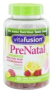 Vitafusion - PreNatal Vitamins Natural Orange, Lemon & Strawberry Flavors - 90 Gummies