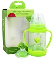 Green Sprouts - Glass Sip 'n Straw Cup Lime - 4 oz.