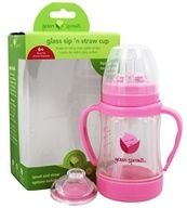 Green Sprouts - Glass Sip 'n Straw Cup Pink - 4 oz.