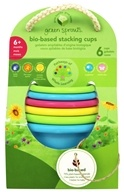 Green Sprouts - Bio-Based Stacking Cups 6+ Months Multicolor - 6 Cup(s)