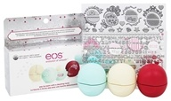 Eos Evolution of Smooth - Holiday Decorative Lip Balm Collection - 3 Pack Limited Edition