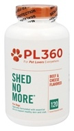 PL360 - Shed No More For Dogs Beef & Cheese Flavored - 120 Tablets