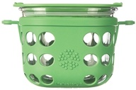 Lifefactory - Glass Food Storage with Silicone Sleeve Grass Green - 16 oz.