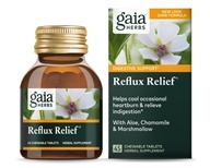 Gaia Herbs - Reflux Relief - 45 Chewable Tablets