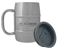 Eco Vessel - Double Barrel Insulated Stainless Steel Coffee and Beer Mug with Lid - 17 oz.