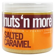 Nuts N More - High Protein Peanut Spread Salted Caramel - 16 oz.