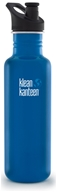 Klean Kanteen - Stainless Steel Water Bottle Classic with Sport Cap 3.0 Blue Planet - 27 oz.