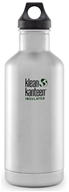 Klean Kanteen - Stainless Steel Water Bottle Classic with Stainless Loop Cap Brushed Stainless - 32 oz.