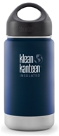 Klean Kanteen - Stainless Steel Water Bottle Wide Insulated with Stainless Loop Cap Deep Sea - 12 oz.