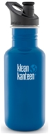 Klean Kanteen - Stainless Steel Water Bottle Classic with Sport Cap 3.0 Blue Planet - 18 oz.