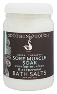 Soothing Touch - Sore Muscle Soak Bath Salts Eucalyptus, Clove & Peppermint - 32 oz. LUCKY PRICE