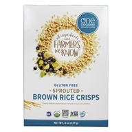 One Degree Organic Foods - Veganic Sprouted Brown Rice Crisps - 8 oz.