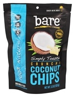 Bare Fruit - 100% Natural Crunchy Coconut Chips Simply Toasted - 3.3 oz.