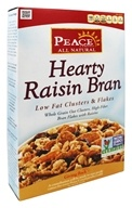 Peace Cereal - Low Fat Clusters & Flakes Hearty Raisin Bran - 10.5 oz.