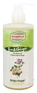 Soapbox Soaps - All Natural Liquid Hand Soap Tea and Ginger - 12 oz.