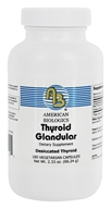 American Biologics - Thyroid Glandular Desiccated Thyroid Gland 130 mg. - 180 Capsules