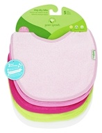 Green Sprouts - Stay Dry Waterproof Absorbent Bibs Pink - 5 Pack