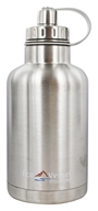 Eco Vessel - TriMax Triple Insulated Stainless Steel Water Bottle Silver Express - 64 oz.