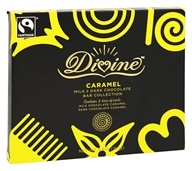 Divine - Milk & Dark Chocolate Bar Collection Caramel - 4 Bars