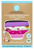 Charlie Banana - Diapers One Size Set Sassy - 6 Diaper(s)