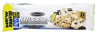 Muscletech Products - Mission1 Clean Protein Bar Cookies & Cream - 2.12 oz.