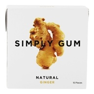 Simply Gum - All Natural Gum Ginger - 15 Piece(s)
