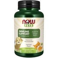 NOW Foods - Now Pets Immune Support For Dogs/Cats - 90 Chewable Tablets