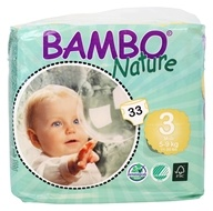 Bambo Nature - Baby Diapers Stage 3 Midi (11-20 lbs) - 33 Diaper(s)