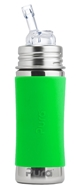 Pura - Stainless Steel Toddler Straw Bottle with Straw Top Spring Green - 11 oz.