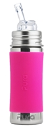 Pura - Stainless Steel Toddler Straw Bottle with Straw Top Pretty Pink - 11 oz.