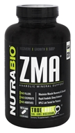 NutraBio - ZMA Anabolic Mineral Support - 180 Vegetarian Capsules