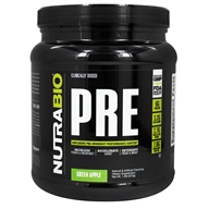 NutraBio - PRE Workout Green Apple - 465 Grams