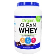 Orgain - Organic Grass Fed Whey Protein Powder Creamy Chocolate Fudge - 1.82 lbs.
