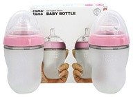 Comotomo - Soft Hygienic Silicone Baby Bottle Twin Pack 3m+ Pink - 8 oz.