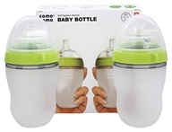 Comotomo - Soft Hygienic Silicone Baby Bottle Twin Pack 3m+ Green - 8 oz.