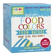ColorKitchen - Decorative Food Colors From Nature Bright Blue - 5 x 0.10 Color Packets