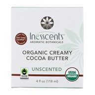Inesscents Aromatic Botanicals - Organic Creamy Cocoa Butter Unscented - 4 oz.
