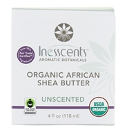 Inesscents Aromatic Botanicals - Organic African Shea Butter Unscented - 4 oz.
