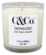 C & Co. - Handcrafted Natural Soy Wax Candle Lavender White - 8.1 oz.