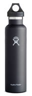 Hydro Flask - Stainless Steel Water Bottle Vacuum Insulated Standard Mouth Black - 24 oz.