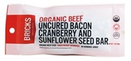 Bricks Meals & Snacks - Grass Fed Beef Protein Bar Uncured Bacon Cranberry and Sunflower Seed - 1.5 oz.