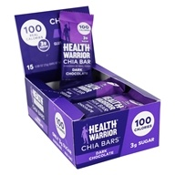Health Warrior - Chia Bars Box Dark Chocolate - 15 Bars