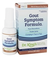 King Bio - Homeopathic Natural Medicine Gout Symptom Reliever - 2 oz.