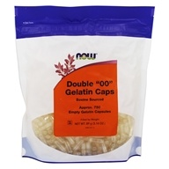 "NOW Foods - Gelatin Empty Capsules Double ""00"" Size - 750 Capsules"