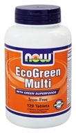 NOW Foods - Eco-Green Multi with Green Superfoods Iron-Free - 120 Tablets