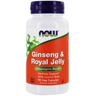 NOW Foods - Ginseng and Royal Jelly 300 mg. - 90 Capsules