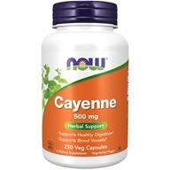 NOW Foods - Cayenne 500 mg. - 250 Capsules