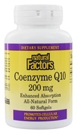 Natural Factors - Co-Enzyme Q10 200 mg. - 60 Softgels