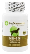 Pet Naturals of Vermont - Skin & Coat Support For Dogs Chicken Flavored Tablets - 60 Tablets